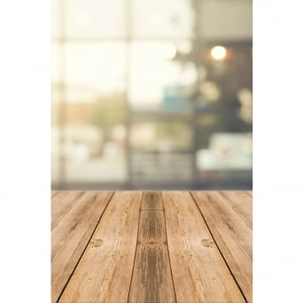Wooden Window Lights Photography Backdrop