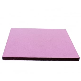 10 Inch Square Baby Pink Drum Cake Board