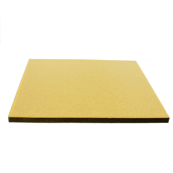 The Cake Decorating Co. 10 Inch Square Gold Drum Cake Board