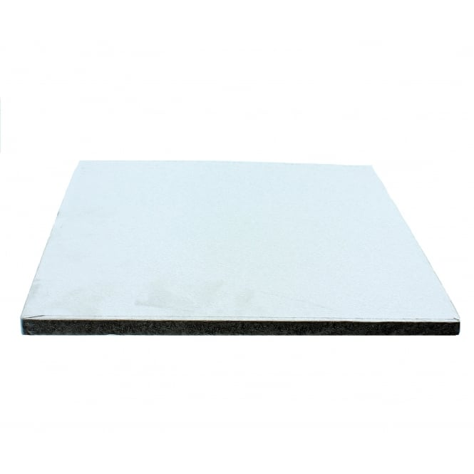 The Cake Decorating Co. 11 Inch Silver Square Drum Cake Board