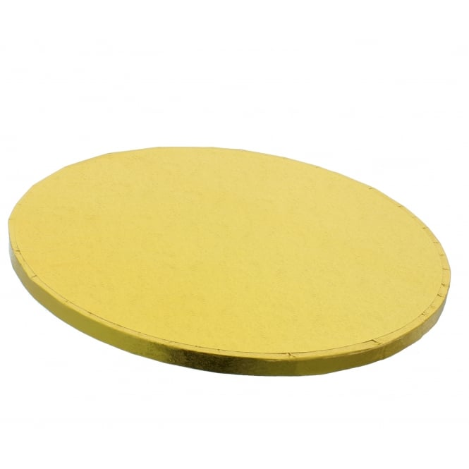The Cake Decorating Co. 12 Inch Round Gold Drum Cake Board