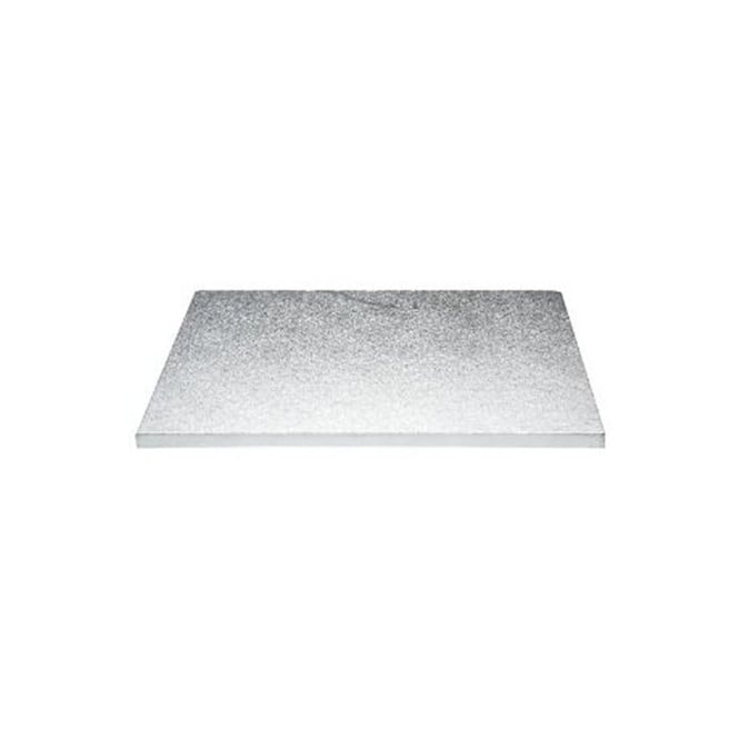 The Cake Decorating Co. 16 x 14 Inch Silver Oblong Drum Cake Board