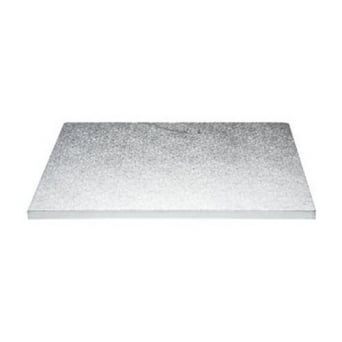 16 x 14 Inch Silver Oblong Drum Cake Board