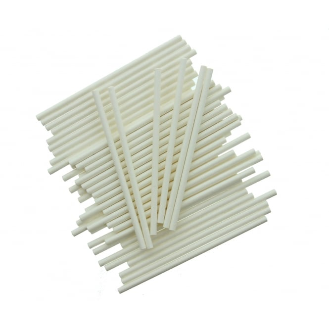 The Cake Decorating Co. 4 inch White Cake Pop Sticks x 25