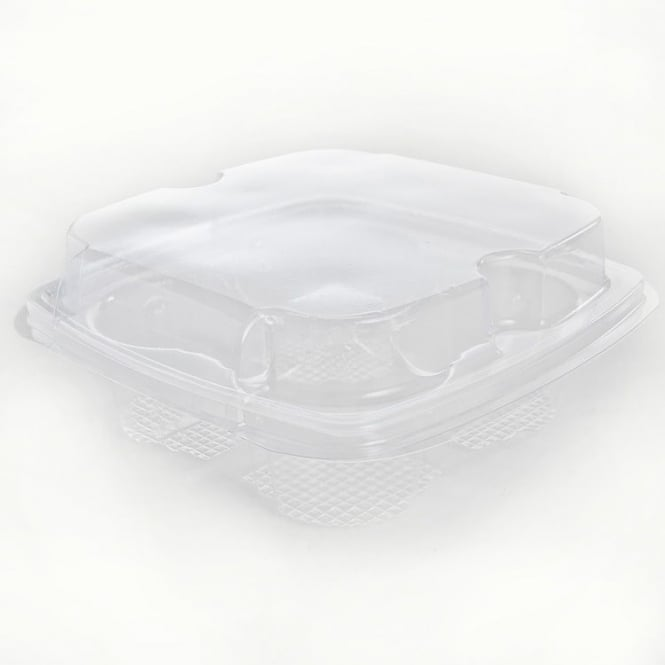 The Cake Decorating Co. 4 Pack Cup Cake Tray Base and Lid