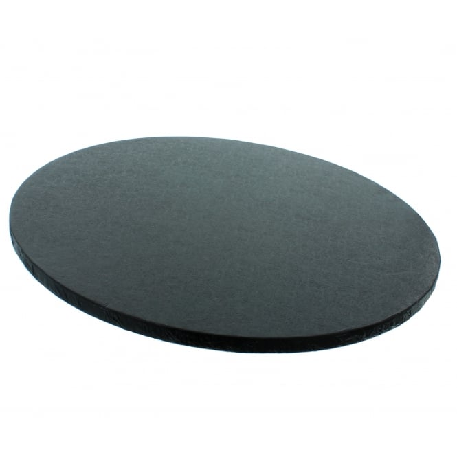 The Cake Decorating Co. 8 Inch Black Round Drum Cake Board