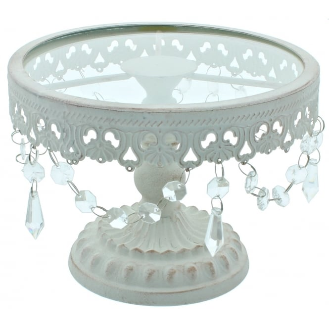 The Cake Decorating Co. 8 Inch White Shabby Chic Cake Stand