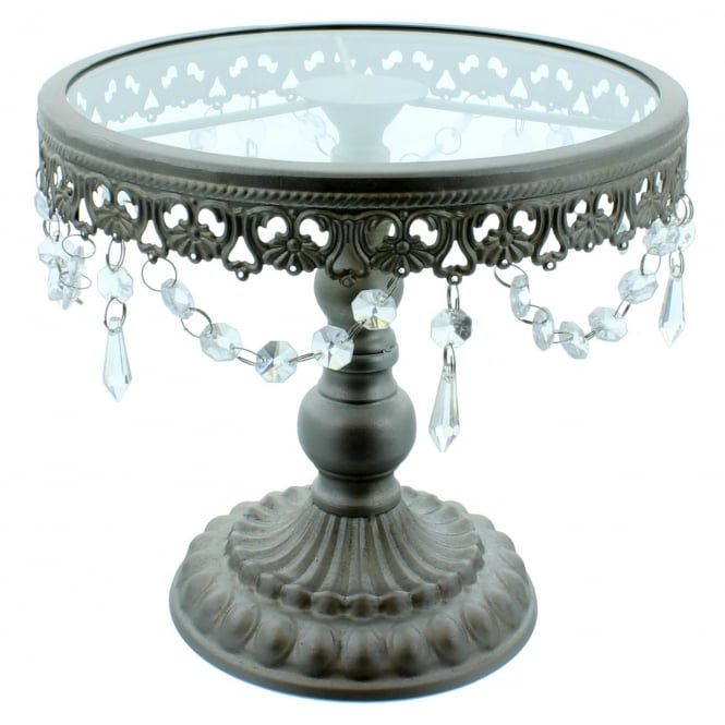 The Cake Decorating Co. 9.5 Inch Silver Shabby Chic Cake Stand