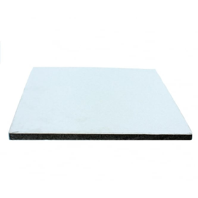 The Cake Decorating Co. 9 Inch Silver Square Drum Cake Board