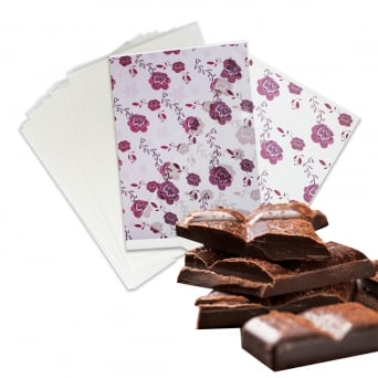 Blank Print Your Own Clear Chocolate Transfer Sheet x 25