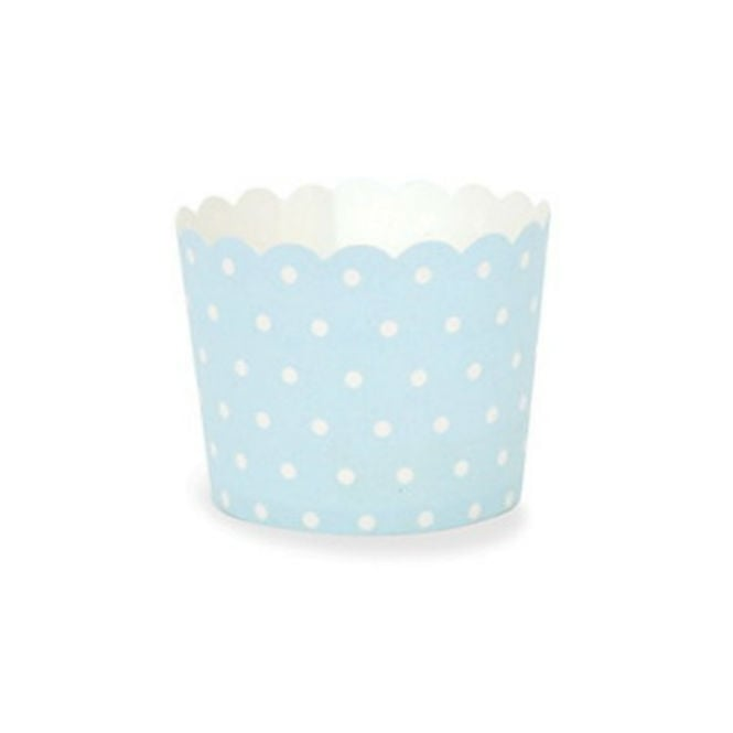 The Cake Decorating Co. Blue With White Spots Cupcake Cases x 25 Cups