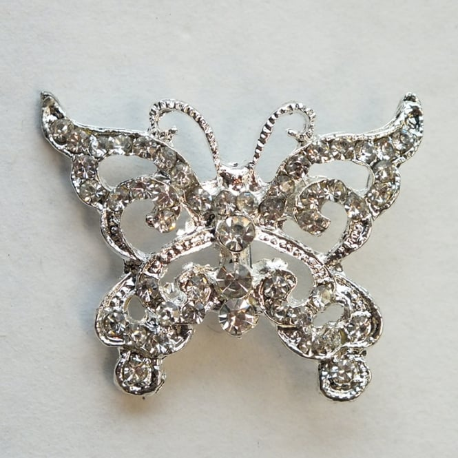 The Cake Decorating Co. Butterfly Crystal Diamante Brooch Decoration