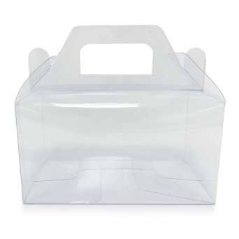 Clear PVC High Quality Holds 2 Cupcake Box With Handle
