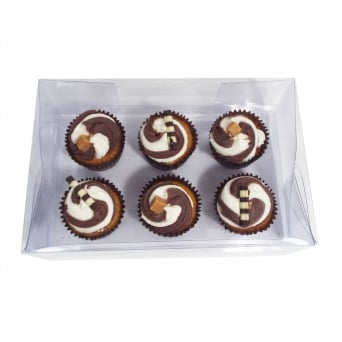 Clear PVC High Quality Holds 6 Cupcake Box