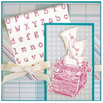 Cling Distressed Type Rubber Embossing Mat By Stampendous