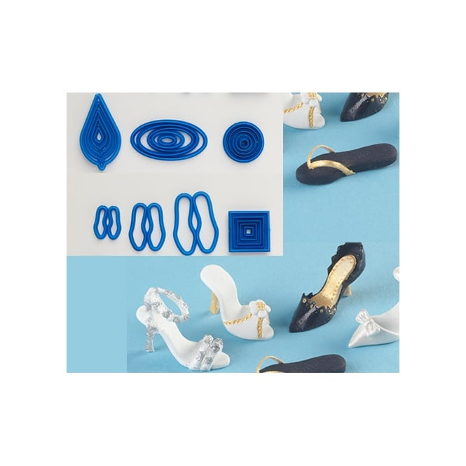 The Cake Decorating Co. Deluxe Tiny Shoe Cutter Set By Frankly Sweet