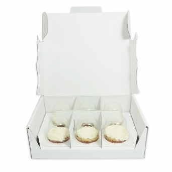 Holds 6 Cakes Away Postable Cupcake Box