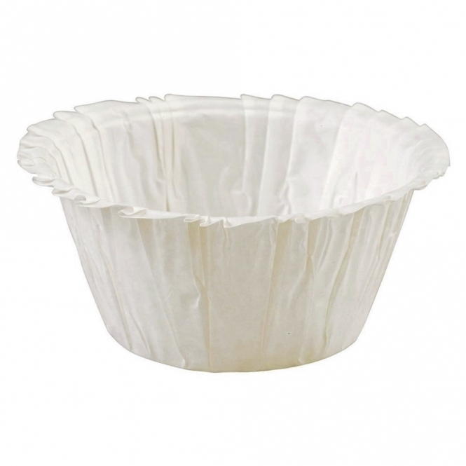 The Cake Decorating Co. Ivory Ruffled Baking Cases x 50 Cups