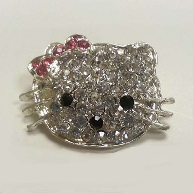 The Cake Decorating Co. Kitty Crystal Diamante Brooch Decoration