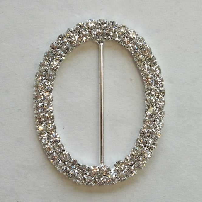 The Cake Decorating Co. Medium Oval Crystal Diamante Buckle Decoration