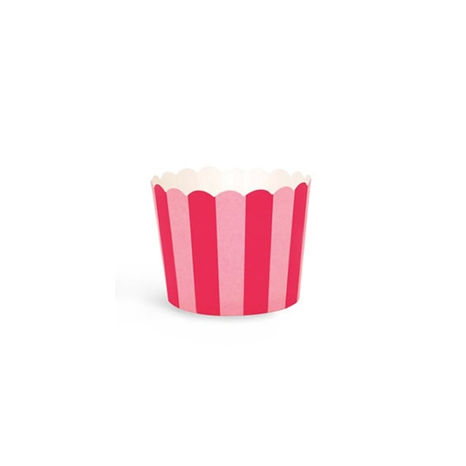 The Cake Decorating Co. Pink And Red Stripes Baking Cases x 25 Cups