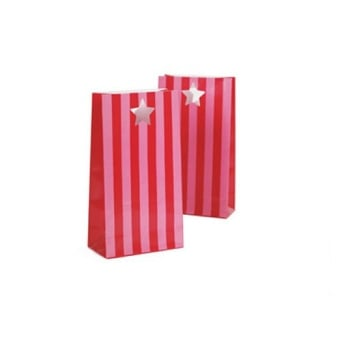 Pink Floss Party Bags x 12