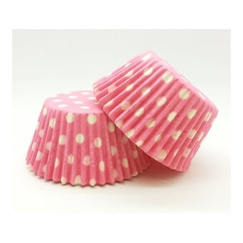 Pink With White Spot Muffin Baking Cups x 50