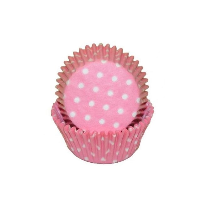 The Cake Decorating Co. Polka Dot Pink Baking Cases x 50 Cups