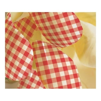 Red Gingham Print Chocolate Transfer Sheet