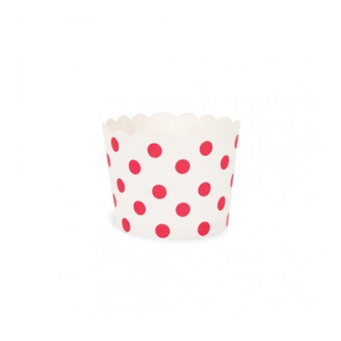 The Cake Decorating Co. Red Spot Polka Dot Cupcake Cases x 25 Cups