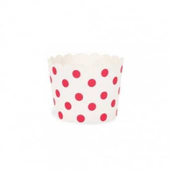 Red Spot Polka Dot Cupcake Cases x 25 Cups