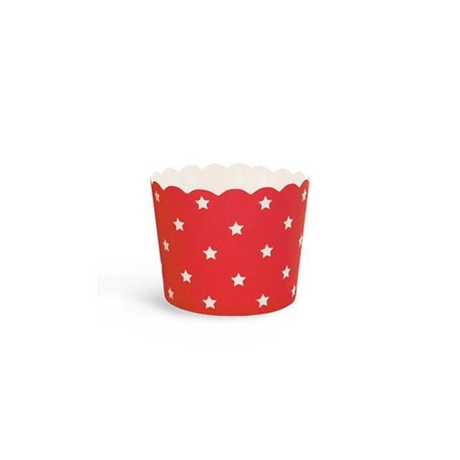 The Cake Decorating Co. Red With White Star Cupcake Cases x 25 Cups