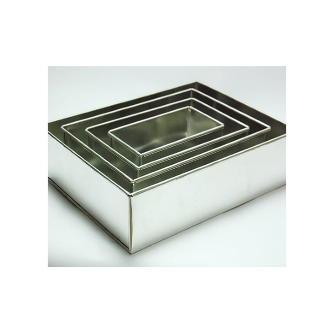The Cake Decorating Co. Set Of 4 Tier Rectangle Sheet Baking Tins