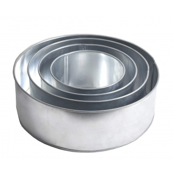 Set Of 4 Tier Round Baking Tins - 3 Inch Deep