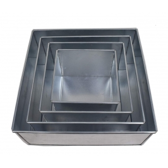 Set Of 6 Tier Square Baking Tins