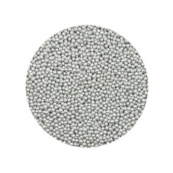 Silver 3mm Edible Pearls Dragees - 100g