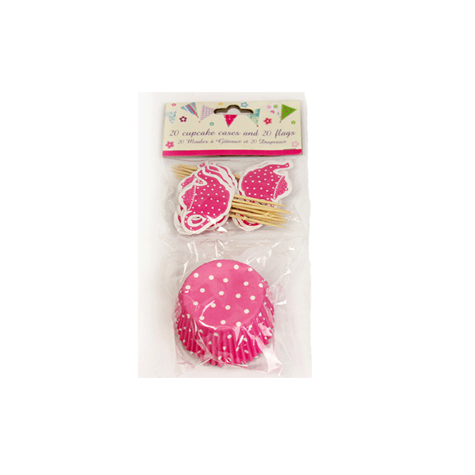 The Cake Decorating Co. Teaparty Cupcake Case Combo Set - Pink