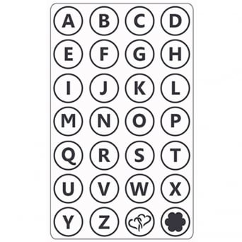 Uppercase Alphabet Design Embossing Folder By Crafts-Too
