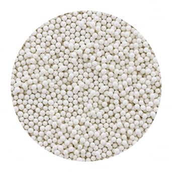 White 3mm Edible Pearls Balls - 100g
