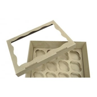 Window Corrugated Heavy Duty Cardboard Cupcake Box Holds 12