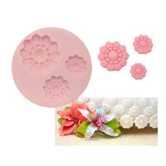 Three Size Flower Silicone Mould - Tal Tsafrir Cakes
