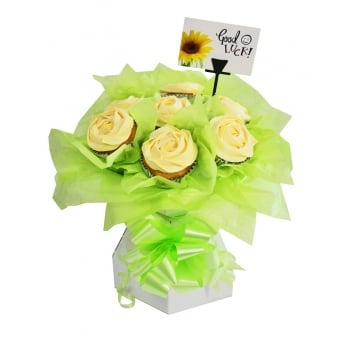 White Cupcake Bouquet Box Kit
