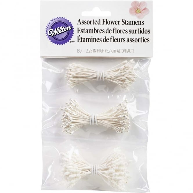 Wilton Assorted Flower Stamens Pack Of 3 Styles