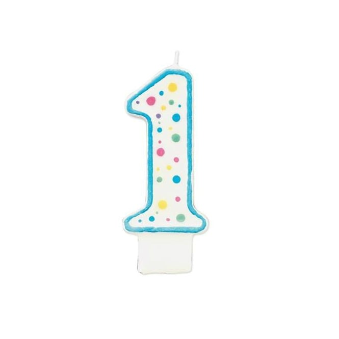 Wilton Boys Number 1 Party Candle