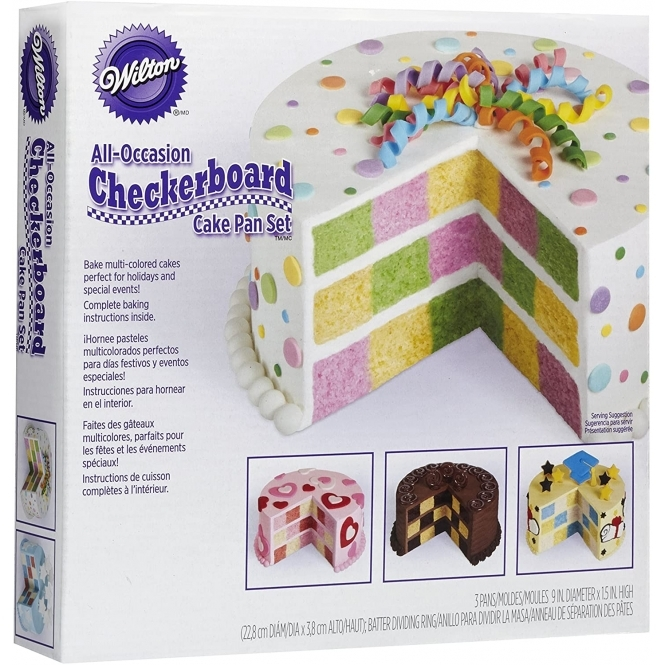 Wilton Checkerboard Baking Cake Set