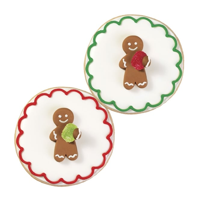Wilton Christmas - Gingerbread Man With Gumdrop Royal Icing Decorations