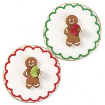 Christmas - Gingerbread Man With Gumdrop Royal Icing Decorations