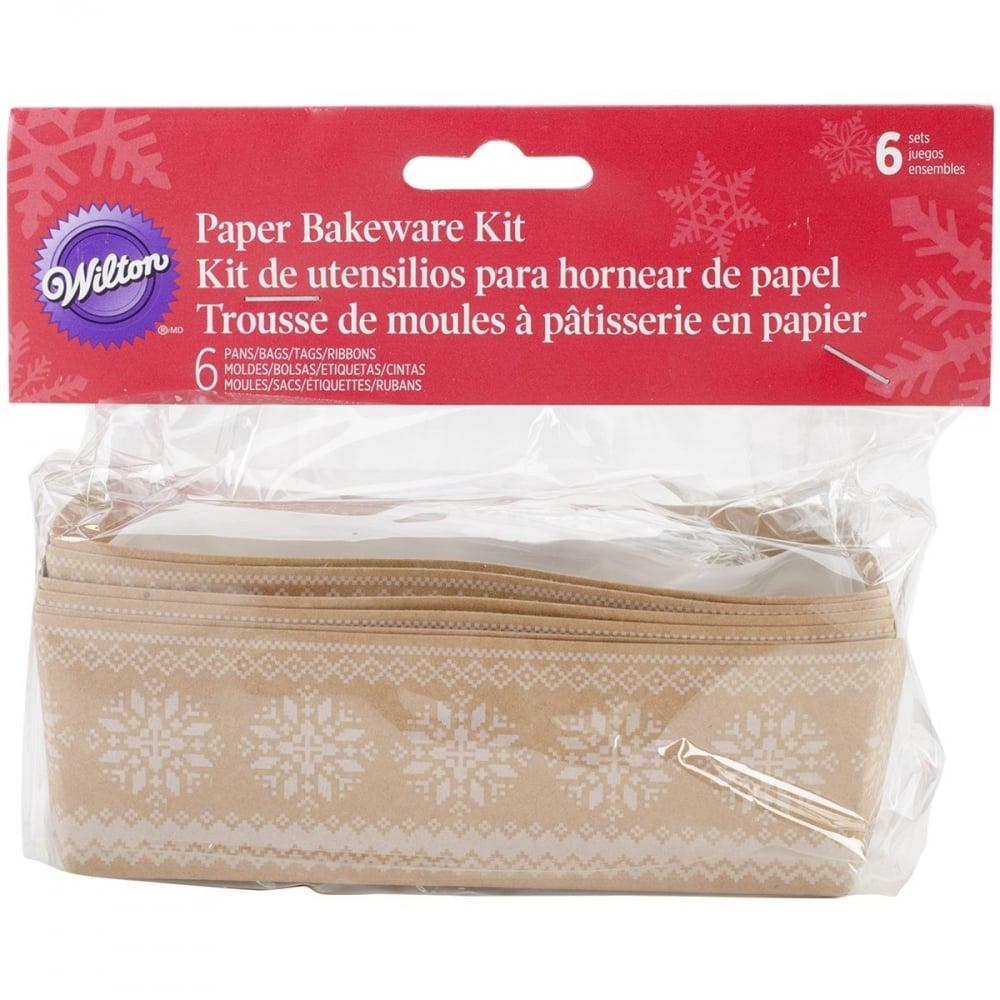 Wilton Christmas Snowflake Mini Loaf Paper Baking Trays