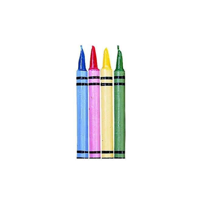 Wilton Crayon Candles Set Pack Of 8