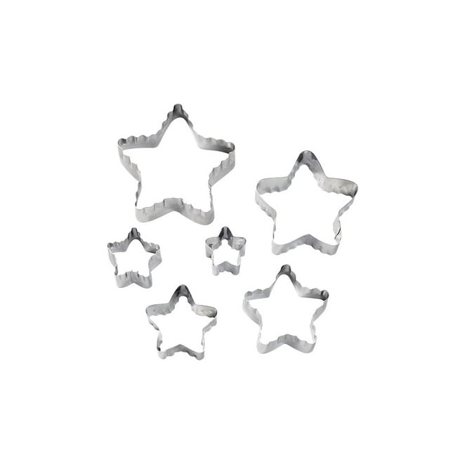 Wilton Double Cut Outs Star Cutter Set x 6